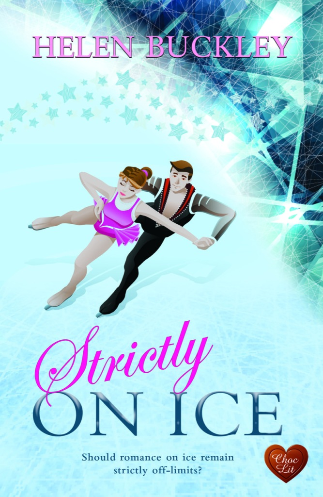 Strictly on Ice book cover with couple ice dancing