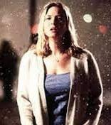 Bridget Jones standing in the snow